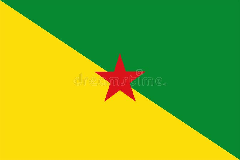 Flagge von Französisch-Guayana vektor abbildung