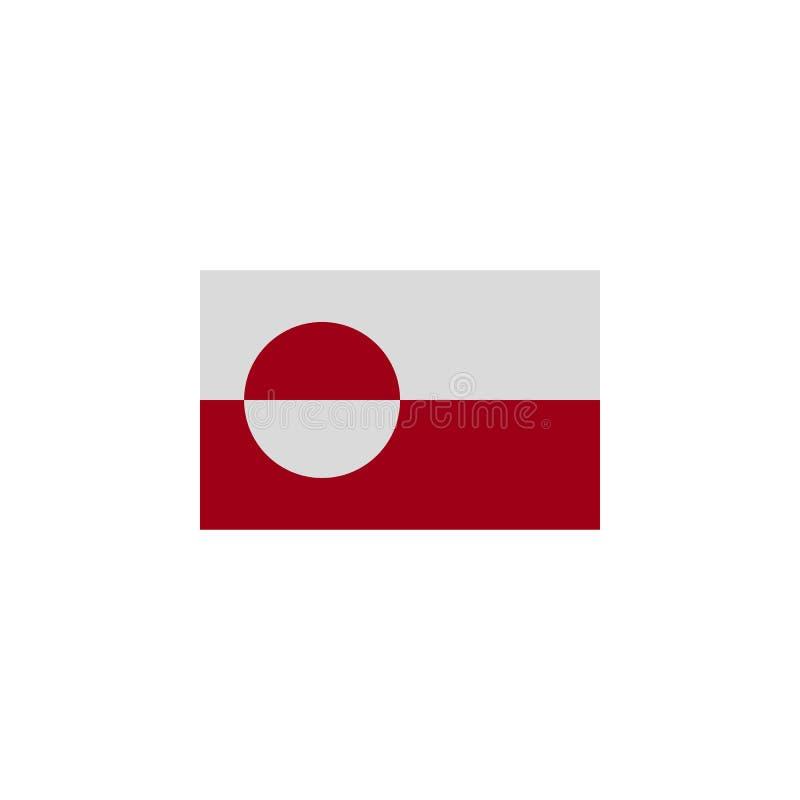 Flagge von Gr?nland f?rbte Ikone r Zeichen und Symbole k?nnen f?r Netz, Logo, mobiler App, UI verwendet werden, vektor abbildung