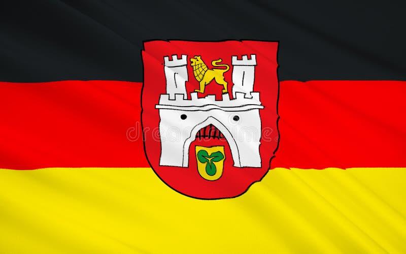 Flagge von Hannover - die Verwaltungsstelle von Niedersachsen herein vektor abbildung