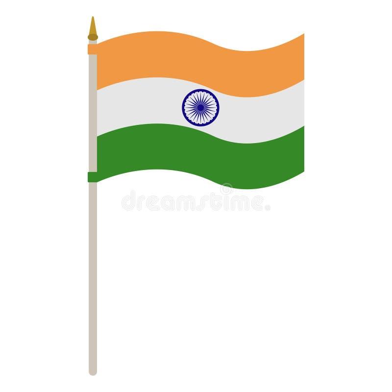 Flagge von Indien auf Polen stock abbildung