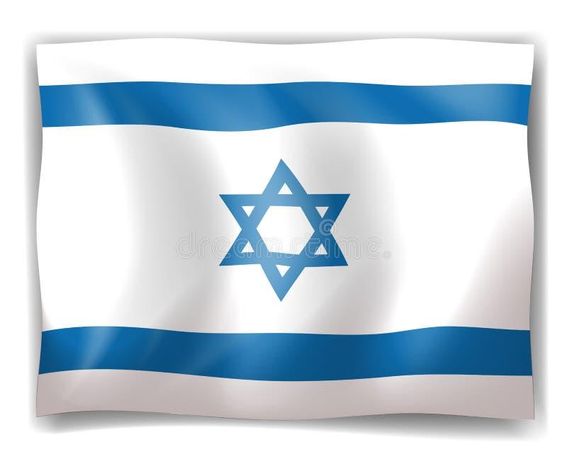 Flagge von Israel lizenzfreie abbildung