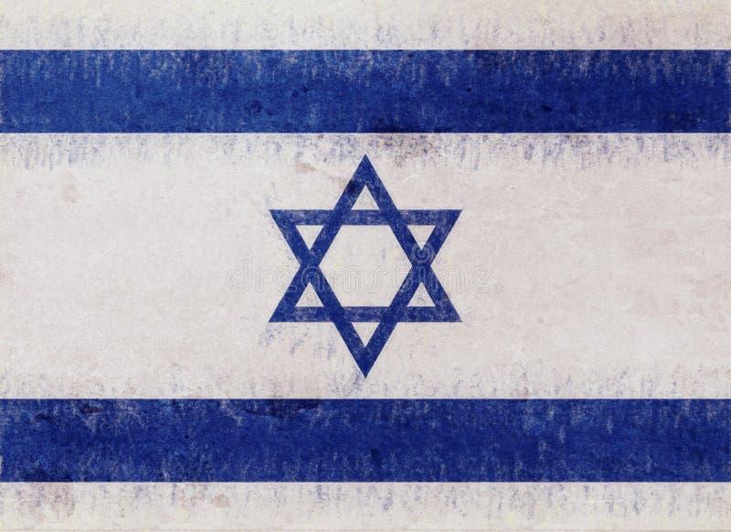 Flagge von Israel Grunge lizenzfreie abbildung