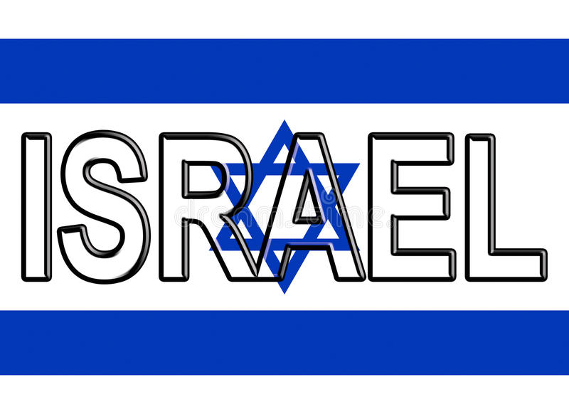 Flagge von Israel Word stock abbildung