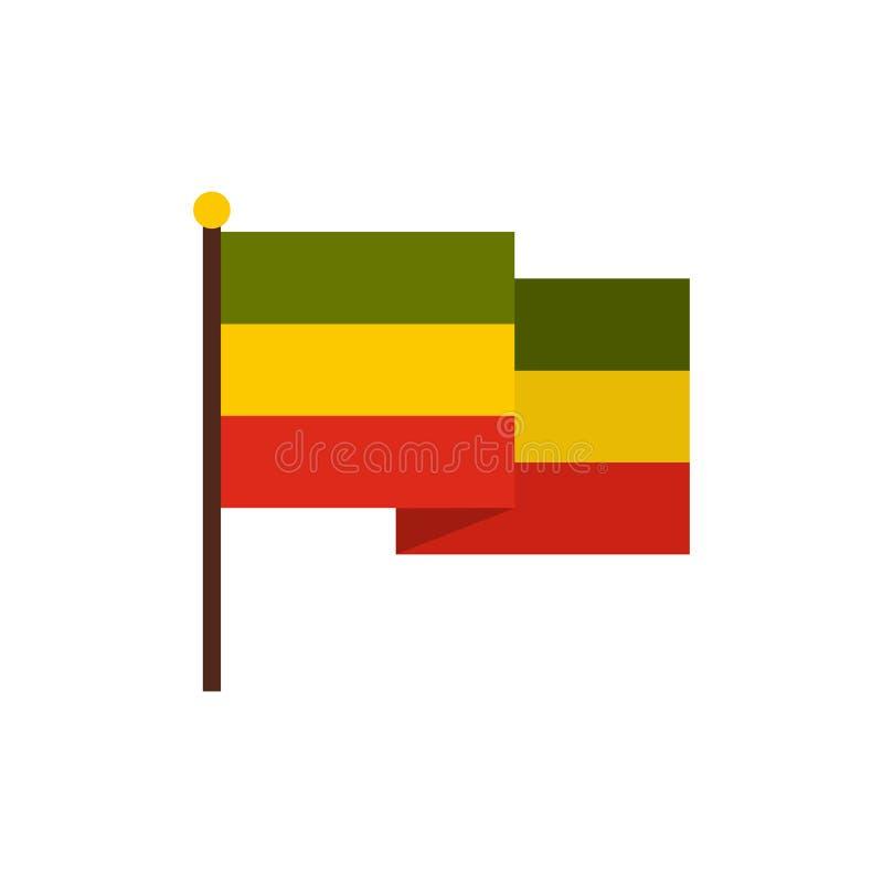 Flagge von Jamaika-Ikone, flache Art lizenzfreie abbildung