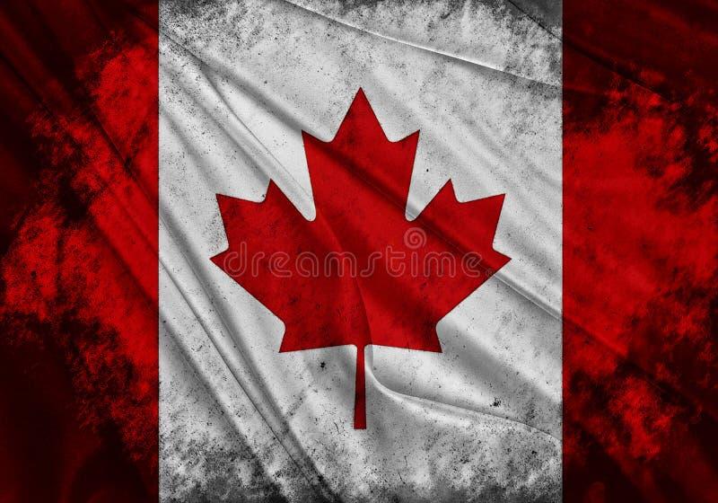 Flagge von Kanada lizenzfreie abbildung