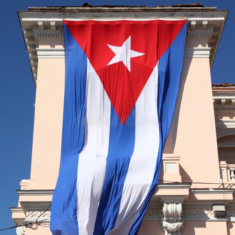 Flagge von Kuba stockbilder