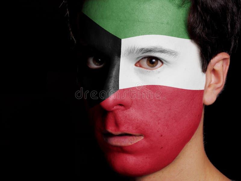 Flagge von Kuwait stockbilder