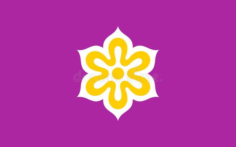 Flagge von Kyoto-Präfektur, Japan lizenzfreie abbildung