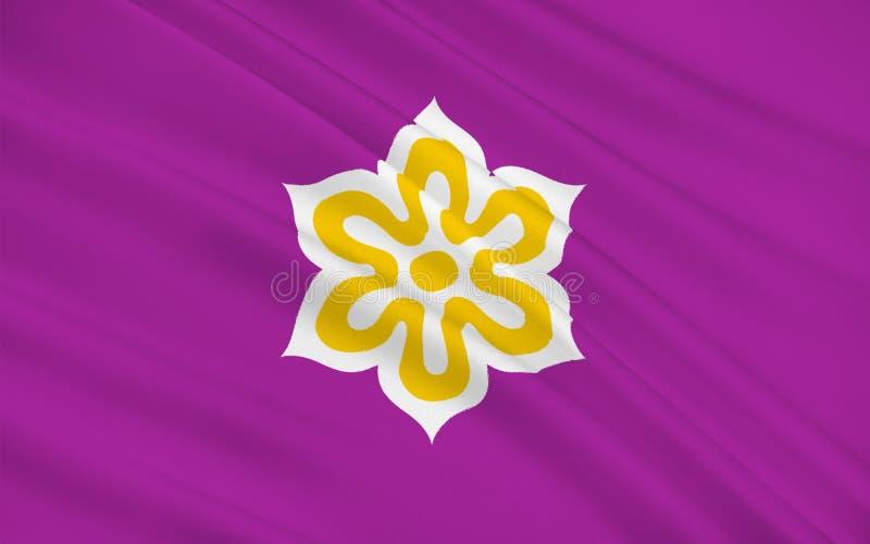 Flagge von Kyoto-Präfektur, Japan vektor abbildung