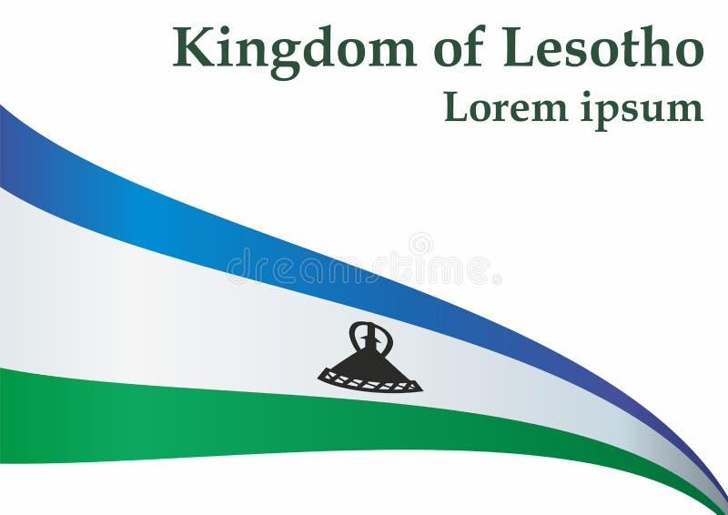 Flagge von Lesotho, Königreich Lesotho Schablone für Preisentwurf, eine amtliche Urkunde mit der Flagge von Lesotho lizenzfreie abbildung