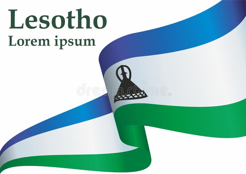 Flagge von Lesotho, Königreich Lesotho Schablone für Preisentwurf, eine amtliche Urkunde mit der Flagge von Lesotho vektor abbildung