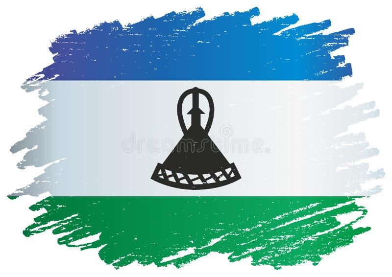 Flagge von Lesotho, Königreich Lesotho Schablone für Preisentwurf, eine amtliche Urkunde mit der Flagge von Lesotho stock abbildung