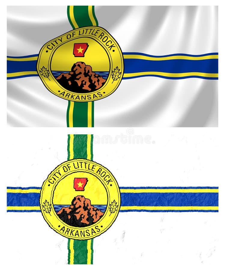 Flagge von Little Rock lizenzfreie abbildung