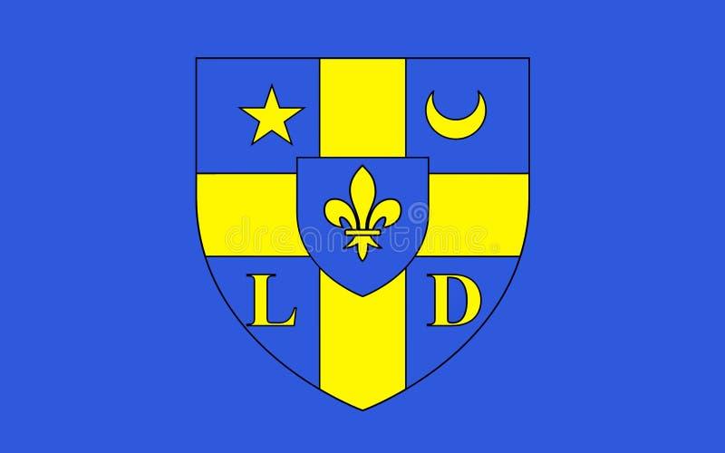 Flagge von Lodeve, Frankreich lizenzfreie stockfotos