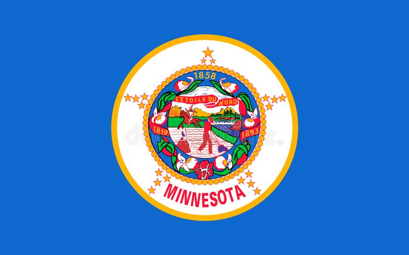 Flagge von Minnesota, USA stockfotografie