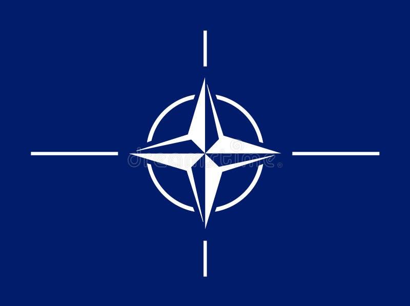 Flagge von NATO stock abbildung