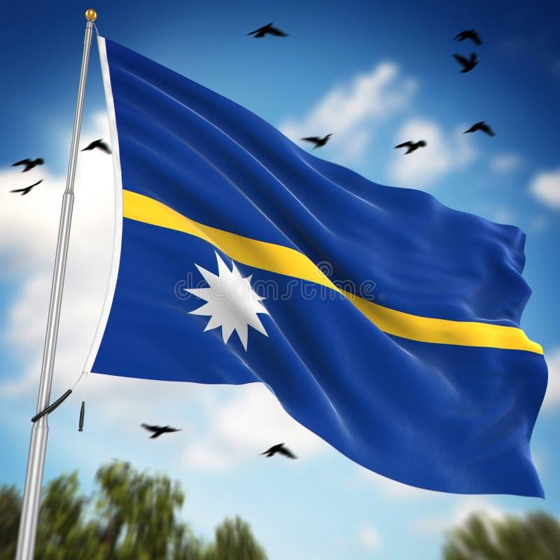 Flagge von Nauru vektor abbildung