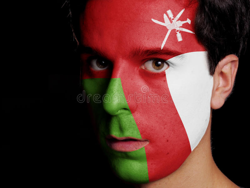 Flagge von Oman lizenzfreie stockfotos