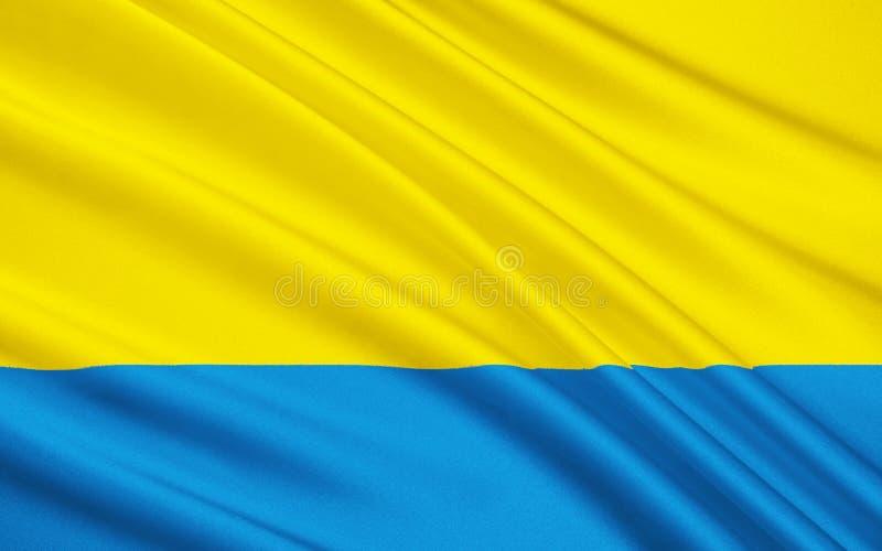 Flagge von Opole Voivodeship in Polen lizenzfreie stockfotos