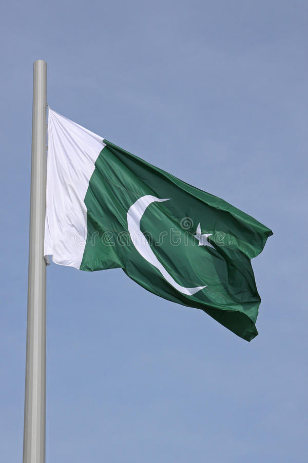 Flagge von Pakistan stockfotos