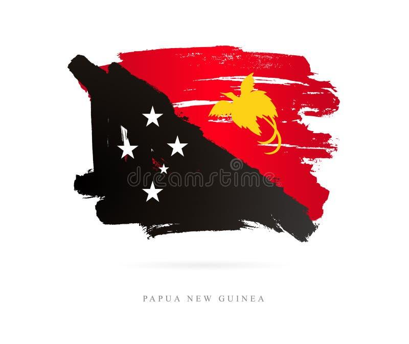 Flagge von Papua-Neu-Guinea Abstrakter Begriff stock abbildung