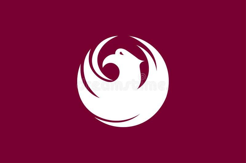 Flagge von Phoenix ist das Kapital Arizona, USA lizenzfreie abbildung