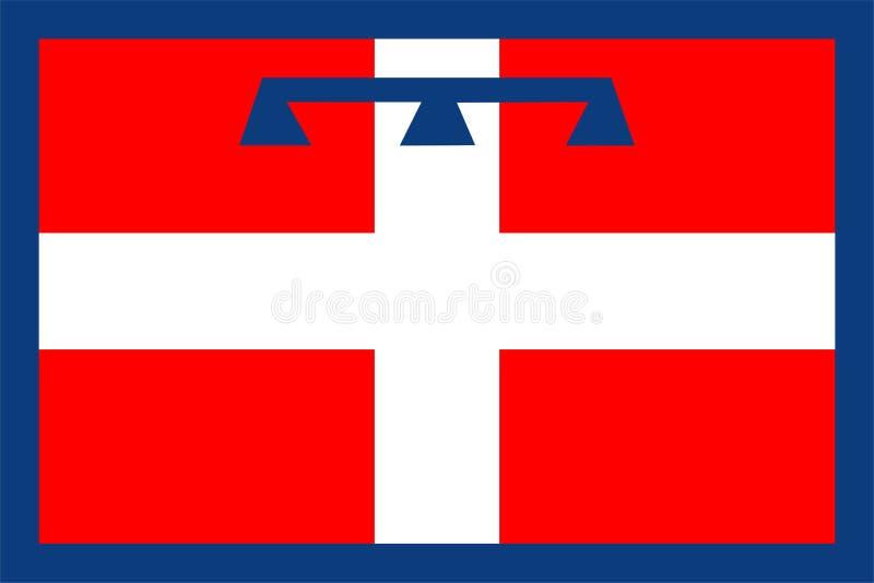 Flagge von Piemont lizenzfreie abbildung