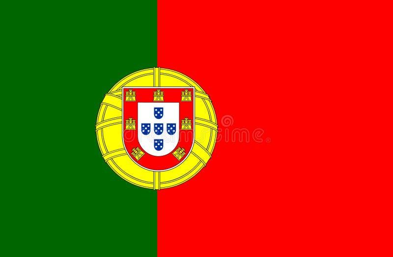 Flagge von Portugal 10 lizenzfreie stockfotos