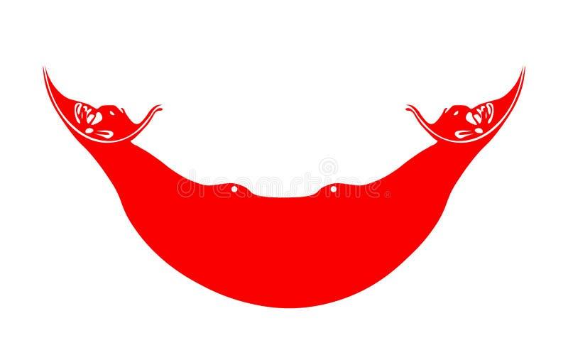 Flagge von Rapa Nui, Chile vektor abbildung