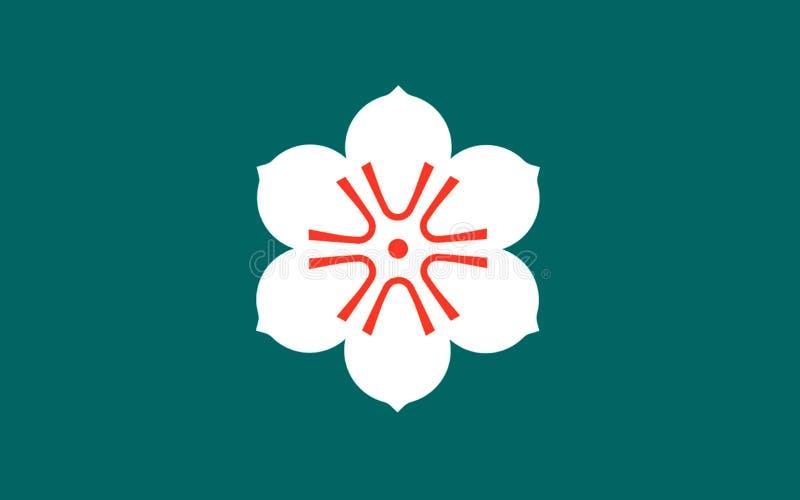 Flagge von Saga-Präfektur, Japan lizenzfreie abbildung
