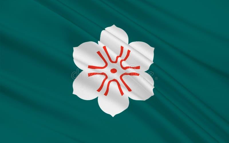 Flagge von Saga-Präfektur, Japan vektor abbildung