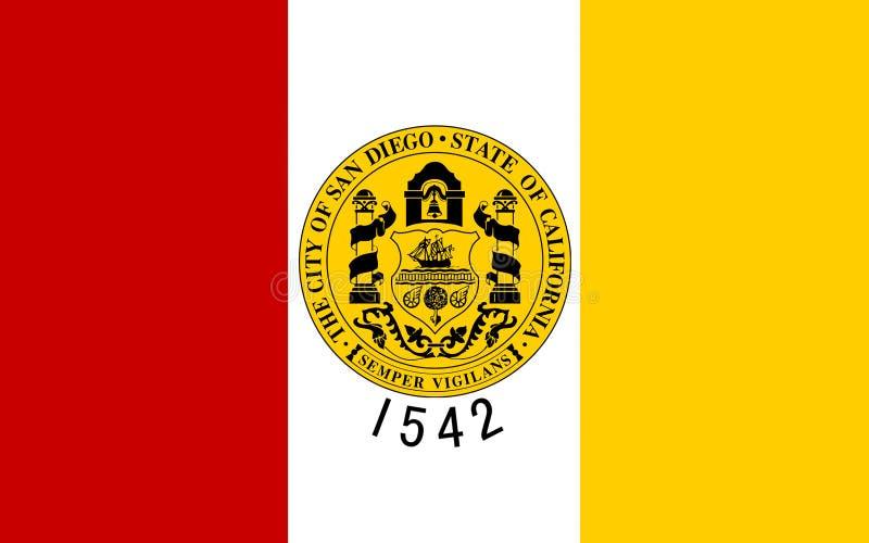 Flagge von San Diego City, Kalifornien, USA lizenzfreies stockfoto