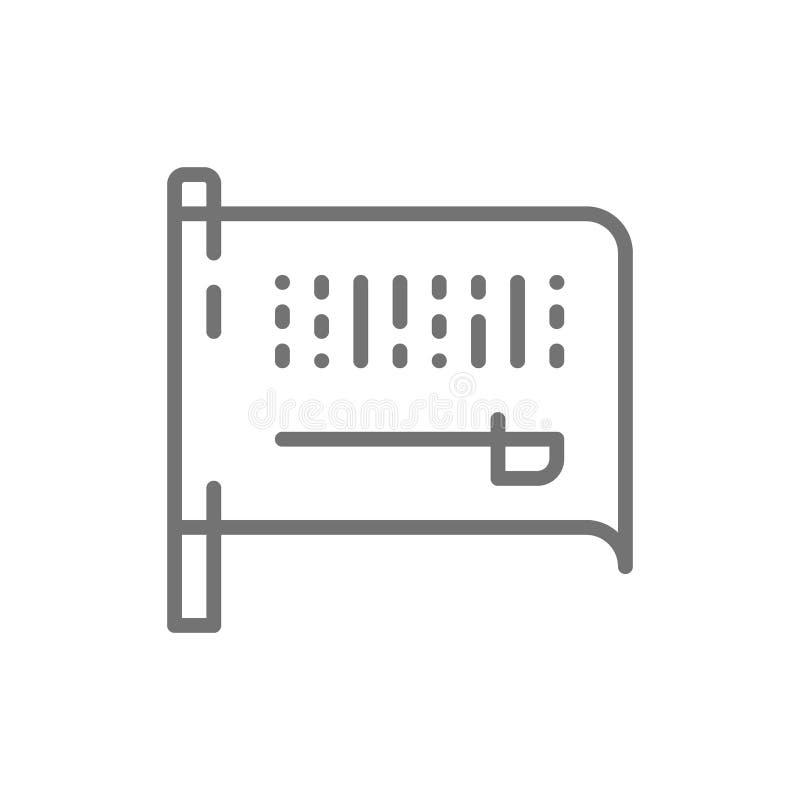 Flagge von Saudi-Arabien Linie Ikone vektor abbildung