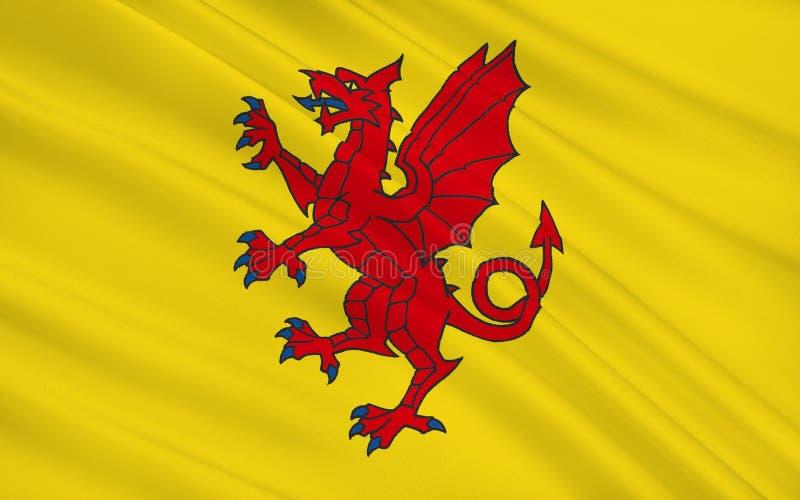 Flagge von Somerset ist eine Grafschaft, England stock abbildung