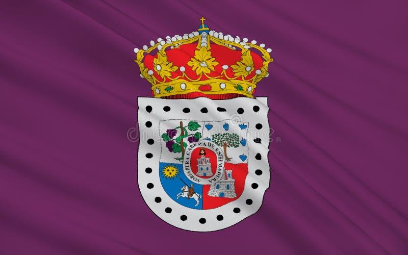 Flagge von Soria ist eine Provinz von Mittel-Spanien lizenzfreie abbildung
