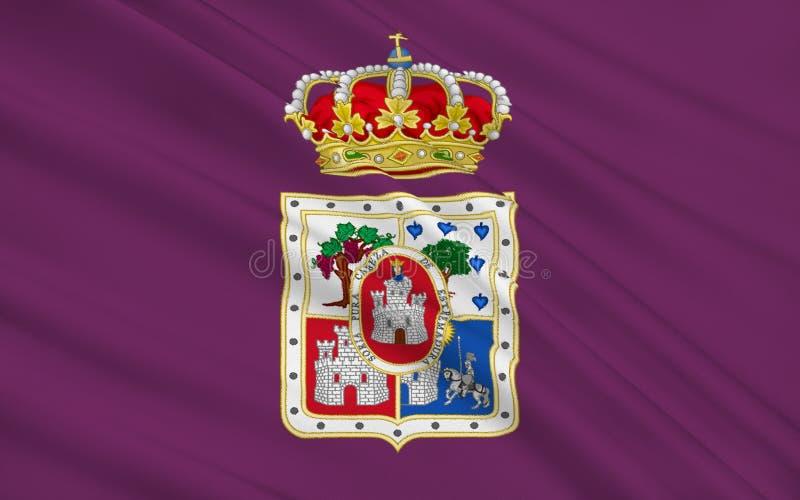 Flagge von Soria ist eine Provinz von Mittel-Spanien vektor abbildung