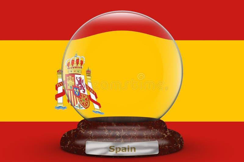 Spanien Auf Kugel Stock Abbildung Illustration Von Kugel 84684813