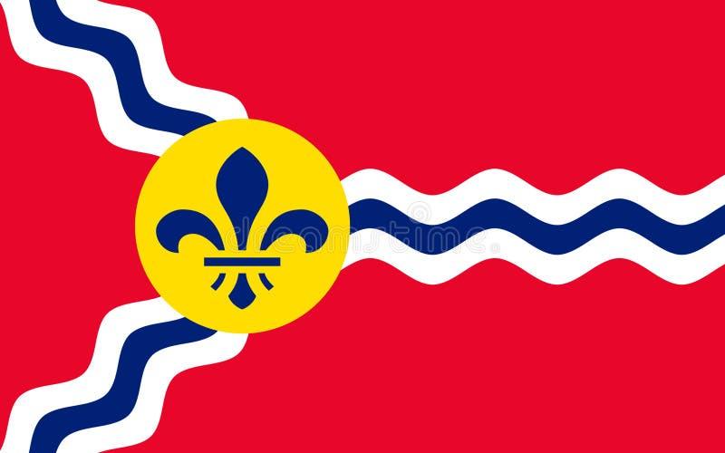 Flagge von St. Louis in Missouri, USA lizenzfreies stockbild