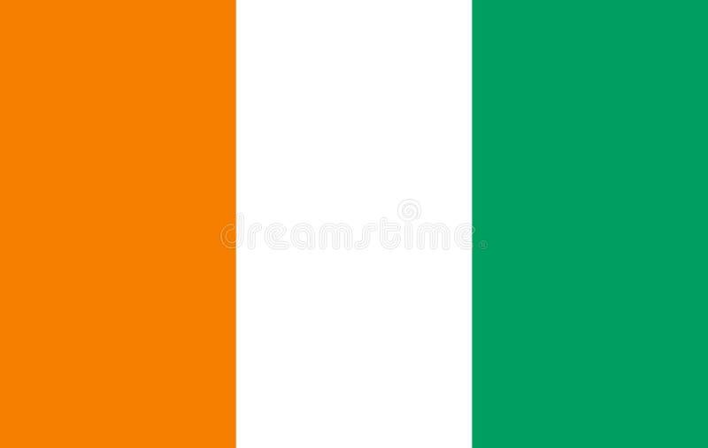 Flagge von Taubenschlag d Ivoire stock abbildung