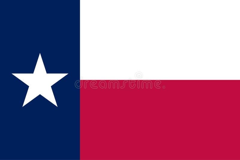 Flagge von Texas-Staat Offizielle Farben: Dunkelblaues 281 Rot 193 Korrekter Anteil Vektor lizenzfreie abbildung