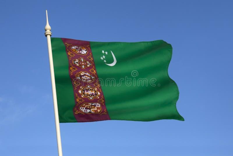 Flagge von Turkmenistan - Zentralasien stockbilder