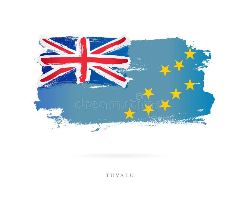 Flagge von Tuvalu Abstrakter Begriff vektor abbildung