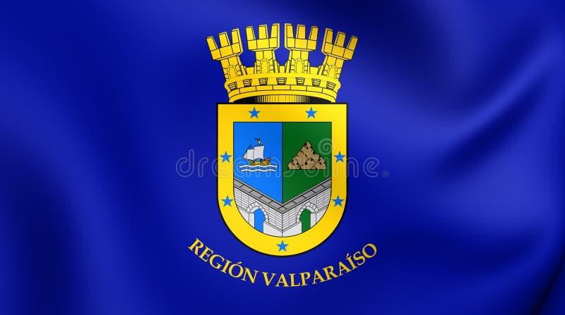 Flagge von Valparaiso-Region, Chile vektor abbildung