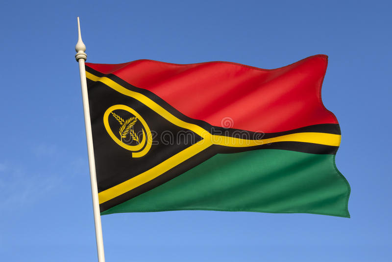 Flagge von Vanuatu - South Pacific lizenzfreie stockfotos