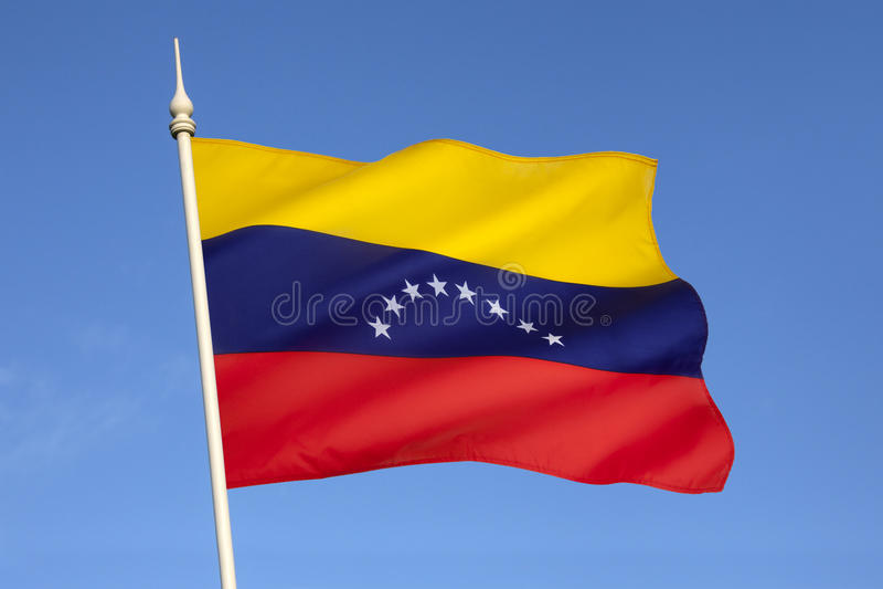 Flagge von Venezuela - Südamerika lizenzfreies stockfoto