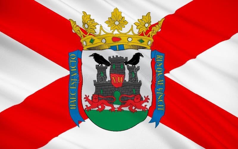 Flagge von Vitoria-Gasteiz ist die Hauptstadt des baskischen Autono stockfotos