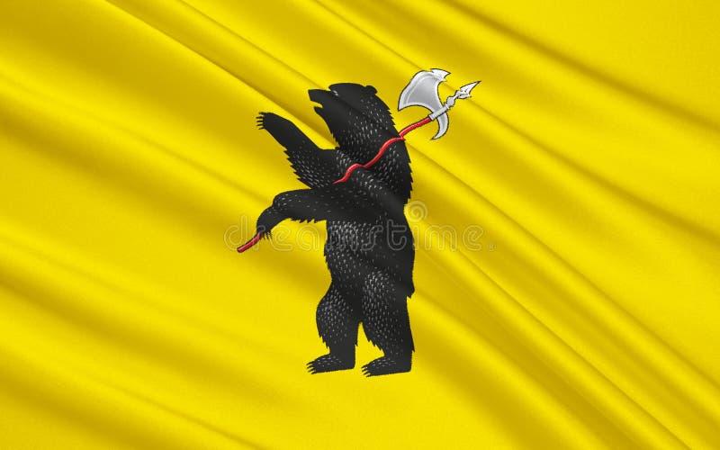 Flagge von Yaroslavl Oblast, Russische Föderation lizenzfreie stockfotos
