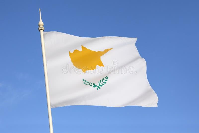 Flagge von Zypern stockfotos