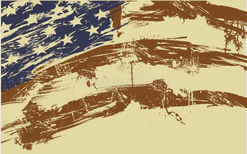 Flaggehintergrund stock abbildung