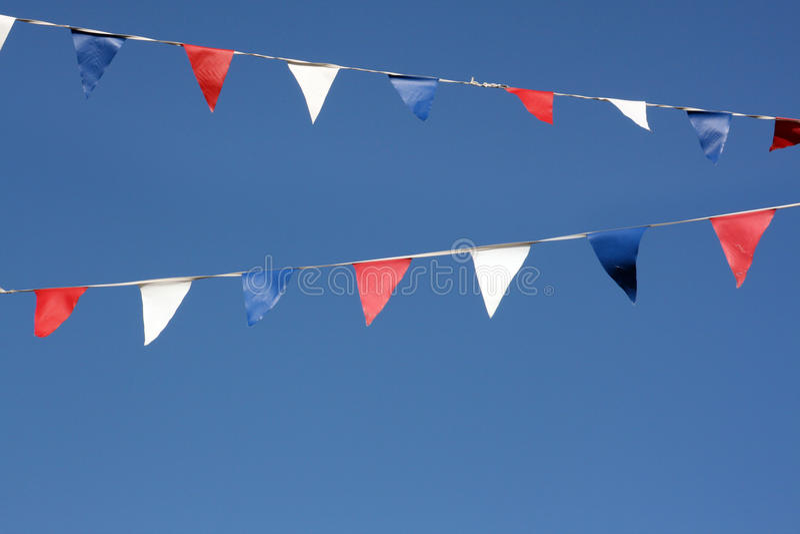 Flaggemarkierungsfahnen stockbild